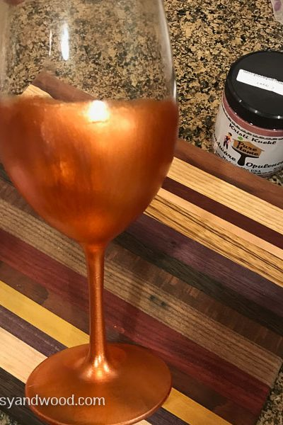 Metallic opulence wine glass-4th coat