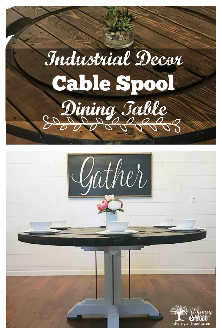 Cable Spool Dining Room Table
