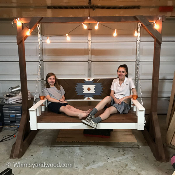 Daybed Porch Swing Bench Diy Tutorial Whimsy And Wood
